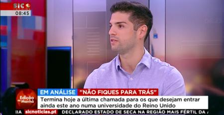 João Almeida concedeu entrevista ao programa Edição da Manhã, da Sic Notícias.